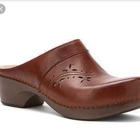 ef936ca653c80 Dansko Shoes | Trina Mule Clogs 409510 Us Brown Leather | Poshmark
